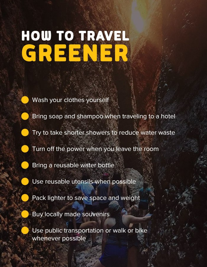 Tips for traveling greener and more sustainably