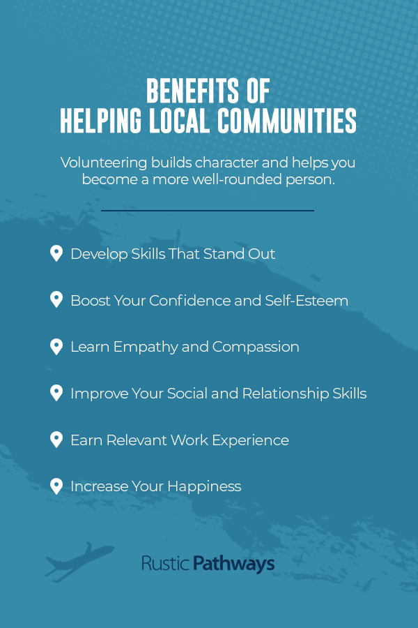 Benefits of helping local communities