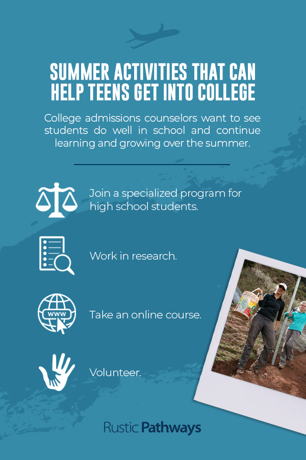 Summer activities that can help students get into college