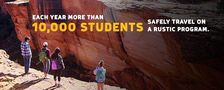Each year more than 10,000 students travel safely on a Rustic Pathways student travel program
