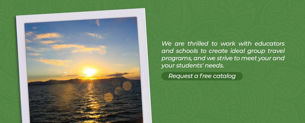 Request a catalog or contact Rustic Pathways to learn more about our class trip abroad programs