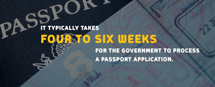 It typically takes 4-6 weeks for the US government to process a passport application