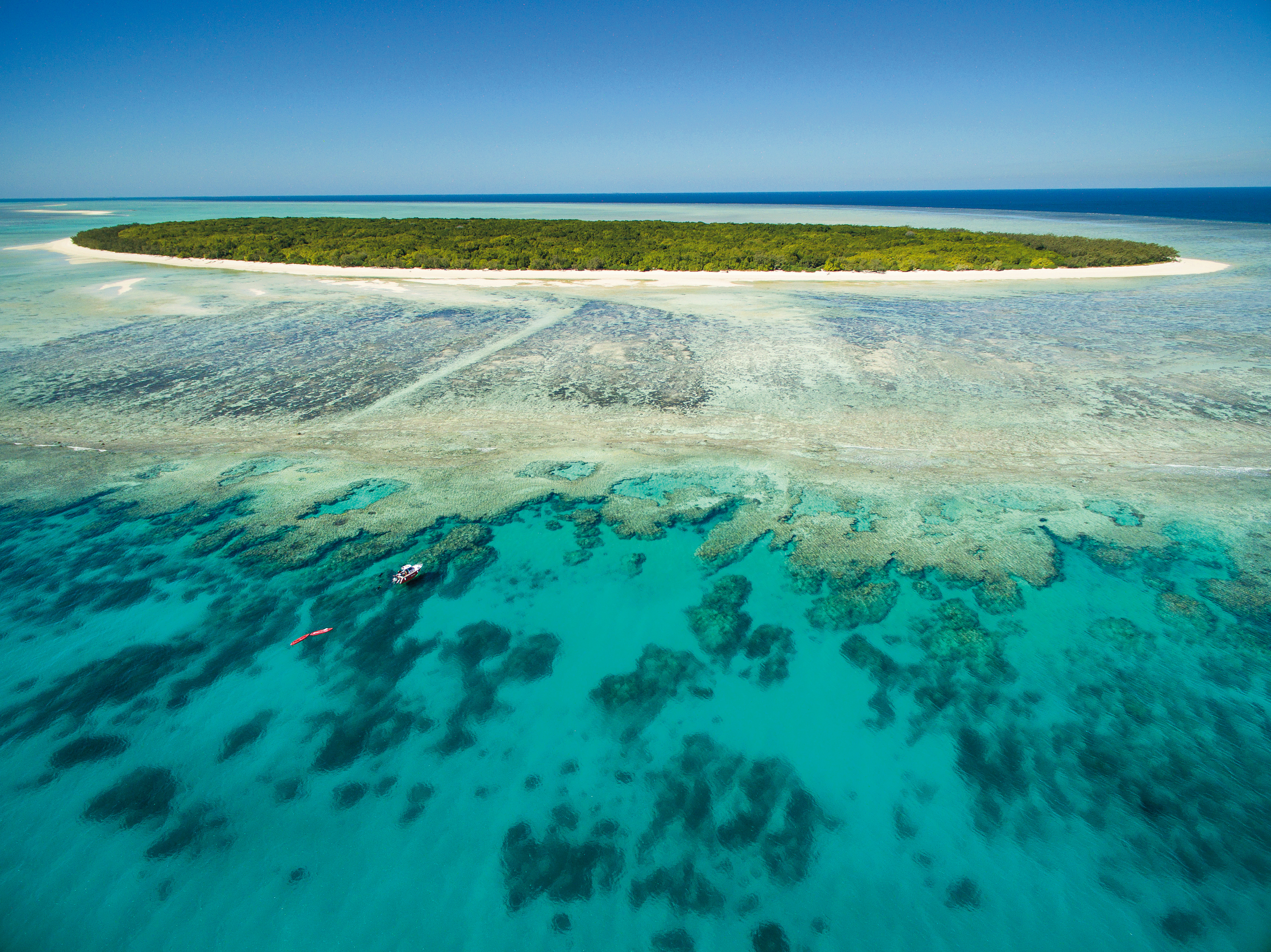 Rustic Island off the southern coast of Australia's Great Barrier Reef