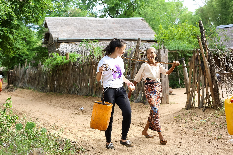 Service work in a village