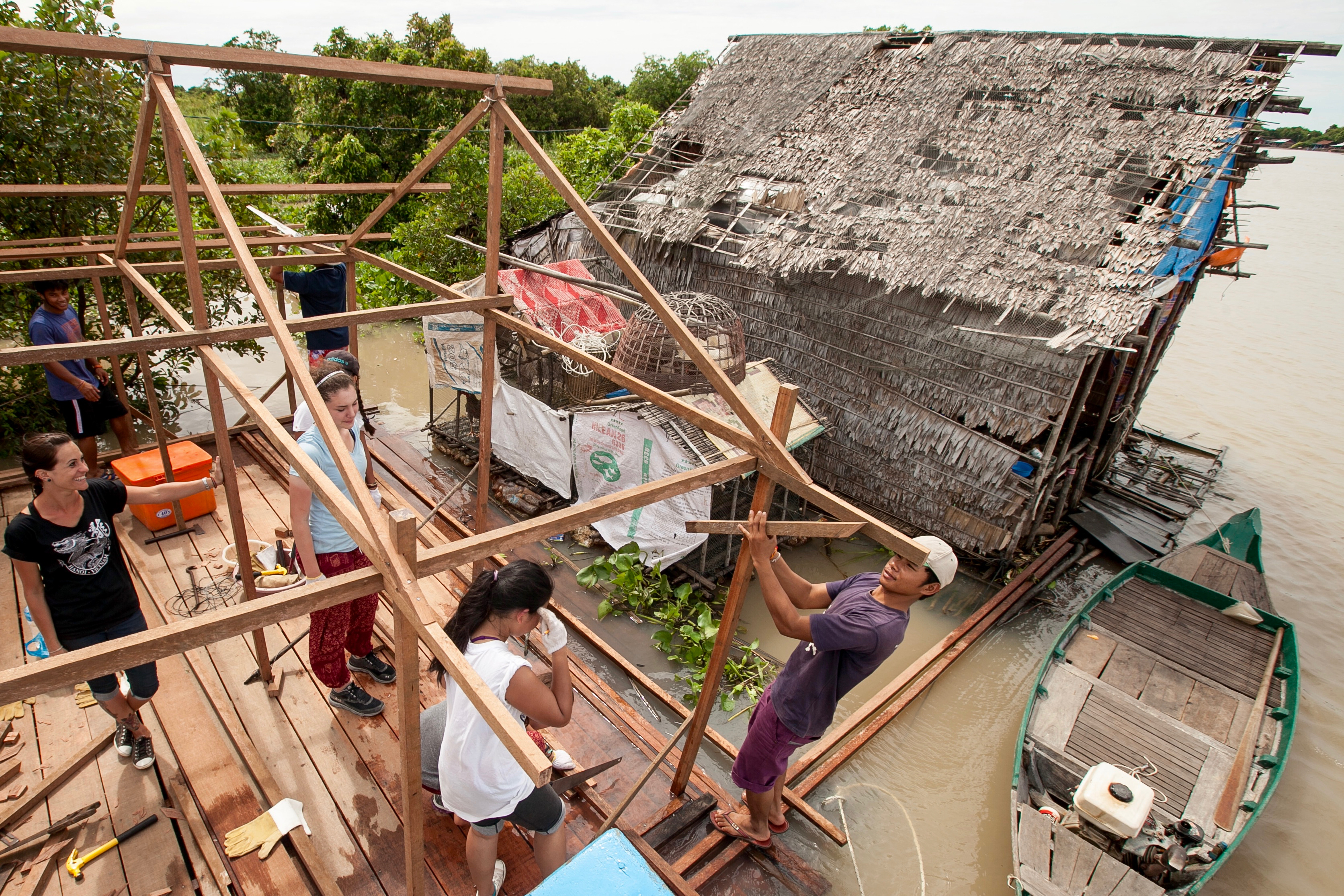 building houses in Cambodia