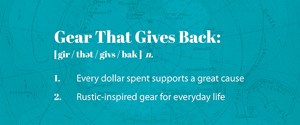 Gear that Gives Back definition
