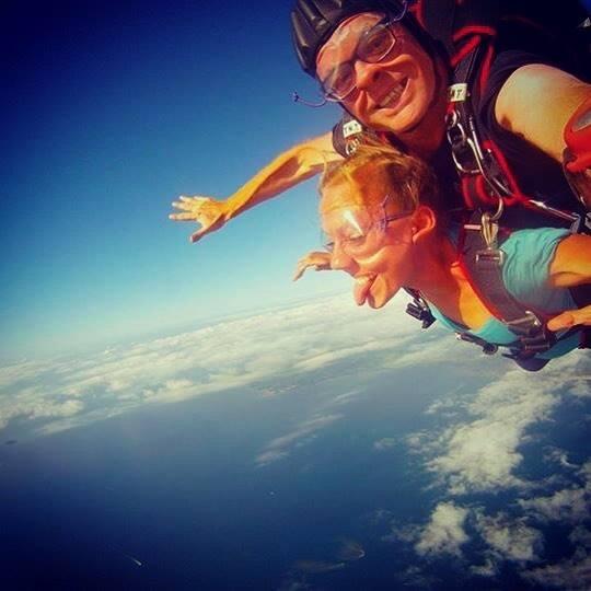 Hollie Wolfinger | Personal Travel Advisor skydiving shot