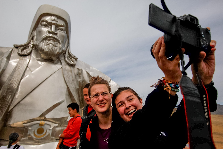 Chinggis Khan statue in Mongolia