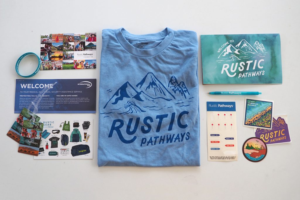 Rustic Pathways pre-departure package