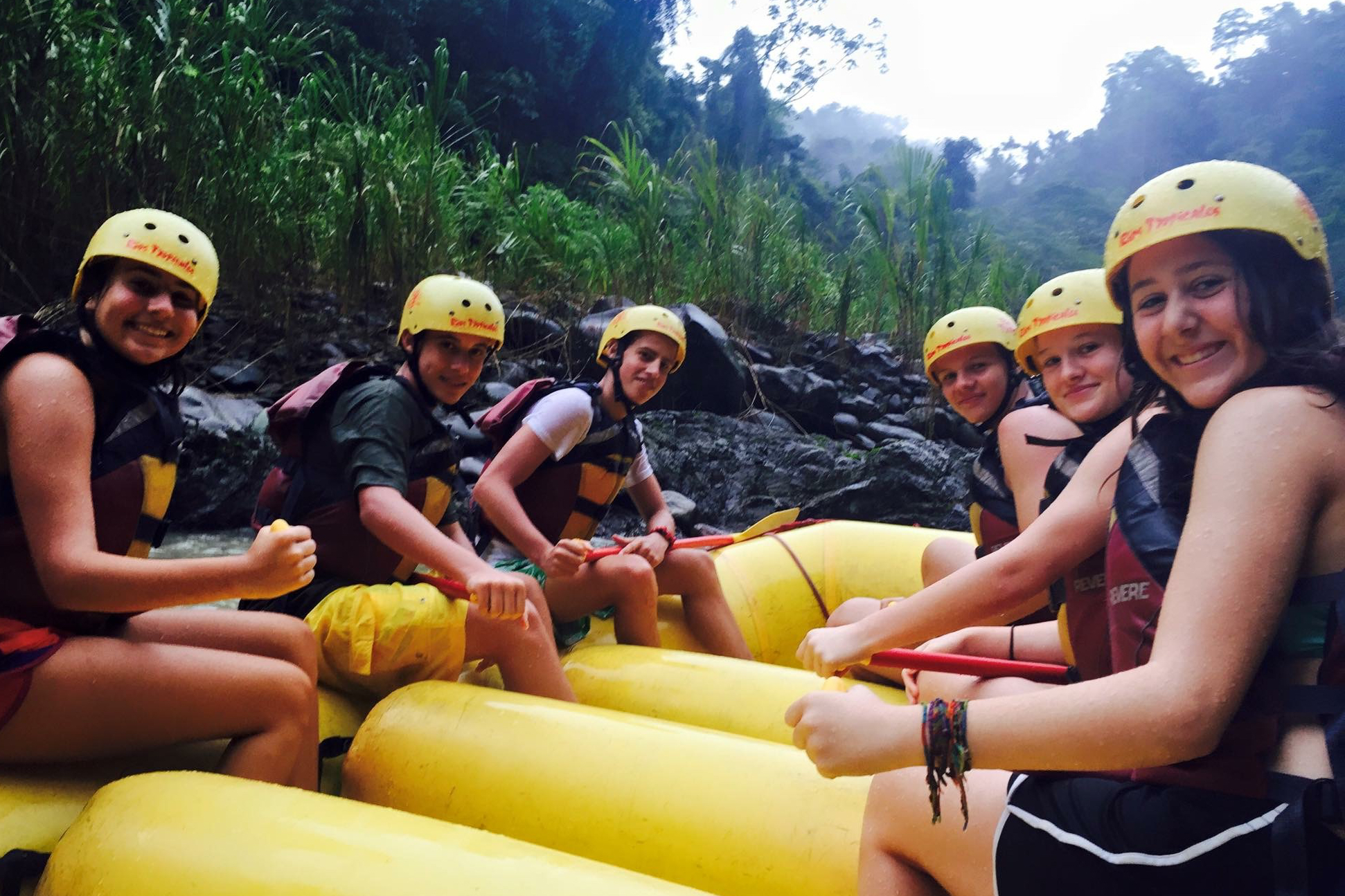 whitewater rafting in Costa Rica