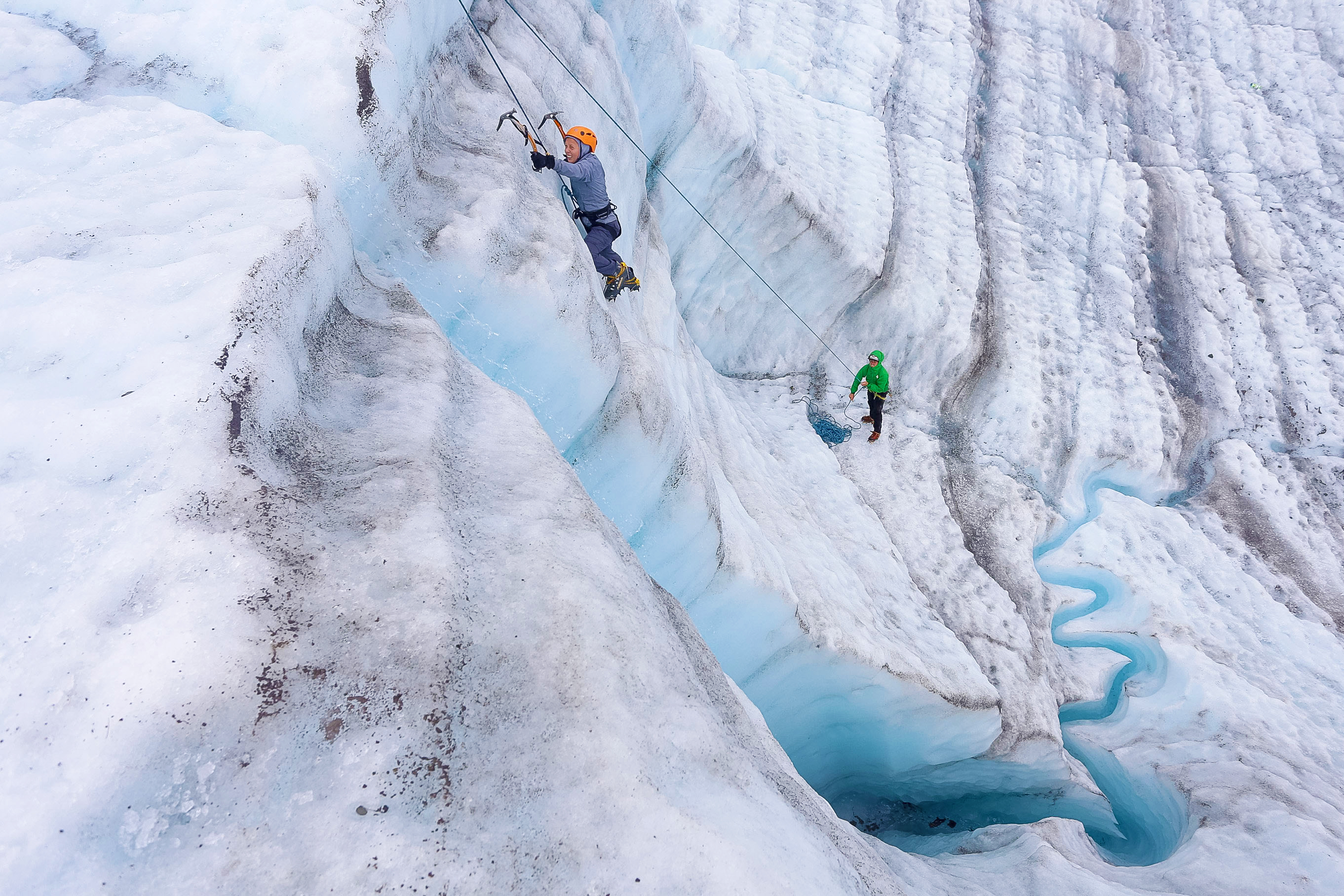 ice climbing in Wrangell-St. Elias National Park in Alaska